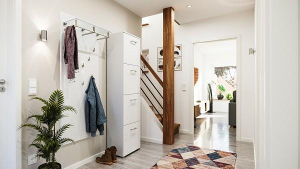 Garderoben Set 2 teilig in weiß mit Schuhschrank für 16 Paar Schuhe